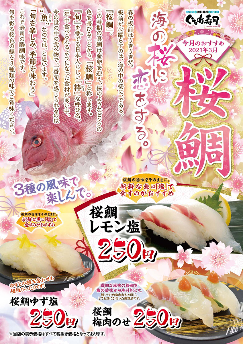 3月のおすすめ桜鯛